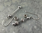 """1.25"""" Ready to Assemble Earring Set - DIY Stainless Steel Bead Bars,earring bead bars,jewelry supplies,interchangeable bead rods"""
