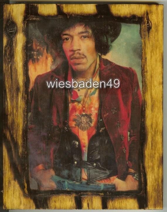 Jimi Hendrix - Wooden Plaque