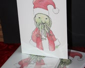 Santa Cthulhu Christmas Card 5x6.5 inches: Pack of 5