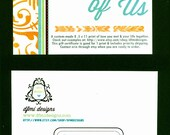 Personalized GIFT CARD of AWESOME for Story of Us print