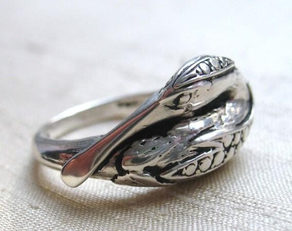 Vintage Ibis/Spoonbill Ring-- Sterling Silver