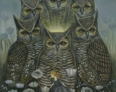 Light of the Owls - Print