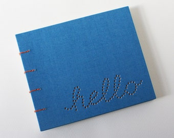 hello blank journal ... blue