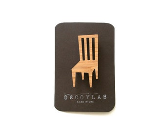 Chair pin, cute brooch, tiny gift
