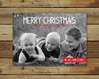Christmas card, holiday card, custom photo card