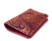 Leather Wallet  iPhone - Scroll Work - Can be made to fit Droid, Samsung, HTC,Blackberry etc.