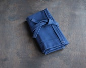 Unwaxed Canvas Tool Roll (Made in USA fabric, pockets on one side)