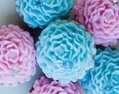 Endless Love Soap Favor, Carnation Favor,  Flower Soap, Wedding Soap Favor, Pink, Vintage Blue, Handmade Soap
