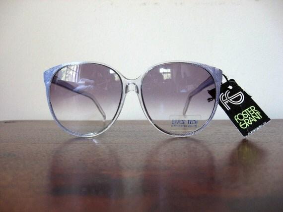 80s Sunglasses Lavender Geometric Vintage NOS Foster Grant Frames