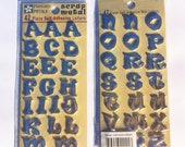 Pressed Petals Scrap Metal adhesive 3D bubble letters w/adhesive