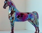 "Model Horse Statue Raku Award-Winning Porcelain OOAK Equine Art ""Well-Bred"""