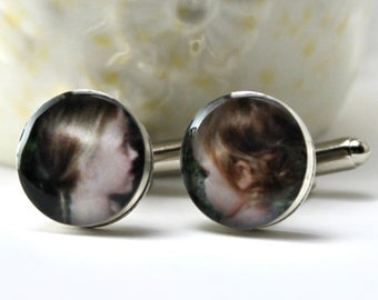 Fathers Day, Father's Day, Fathers Day Gift, First Fathers Day, Personalized Fathers day Gift, Photo Cufflinks with Engraving
