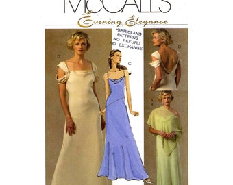 Bridesmaid wedding dress and poncho McCalls M4966 sewing pattern Size 12 to 18