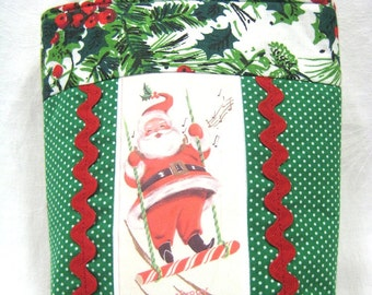 CHRISTMAS RETRO Handbag Tote Vintage 1950s Image