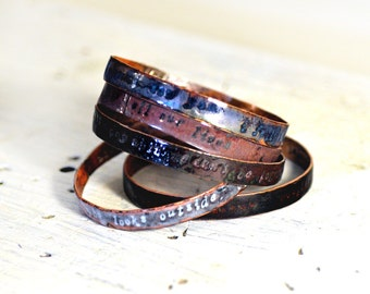 Handmade Gifts - Poets & Madmen - Secret Message Bangles - Enamel Bracelet