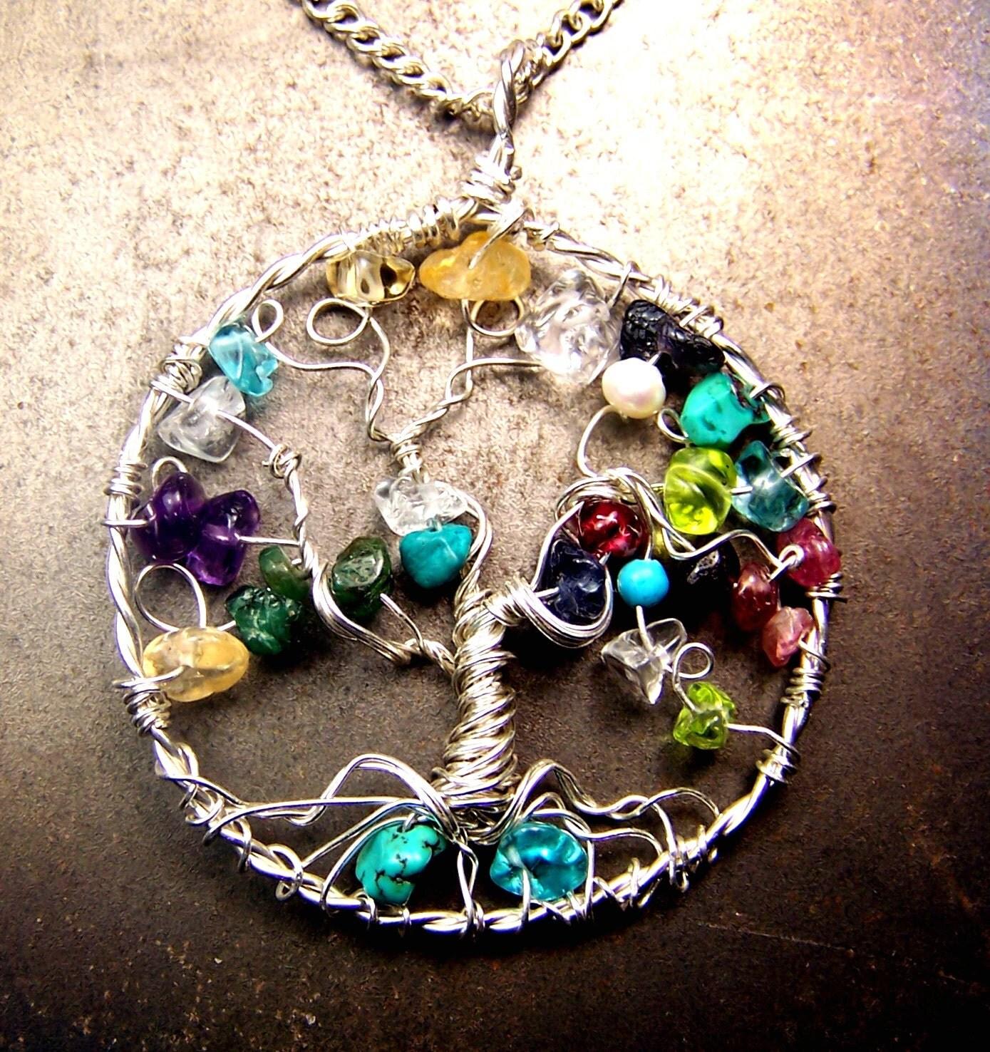 genealogy family tree necklace pendant tree of