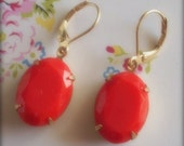 FOR CANCER - Mitch's Favorite Color Earrings - Pantone Tangerine Tango