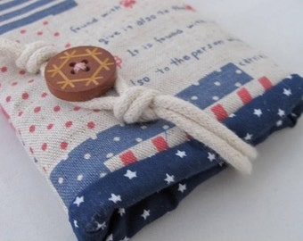 Patchwork birds and petite house iphone 5s mobile pouch wallet