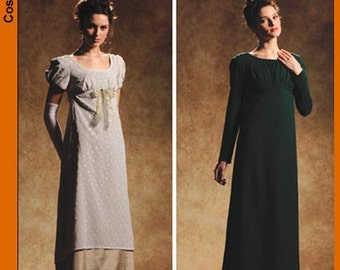Diy Sewing Pattern Simplicity 4055-Regency Gown/Dress-Pride n Prejudice Gown-Plus Size