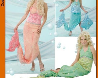 Diy Sewing Patern -Simplicity 4043 Mermaid Costume-Misses and Child