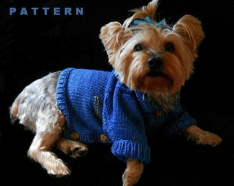 BLUE JEAN BABY Knitted Jean Jacket Dog Sweater Knitting Pattern