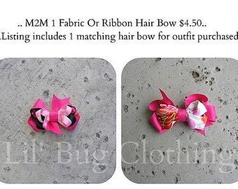 M2M Custom Boutique Single Childrens Bow
