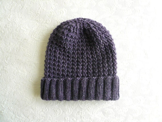 waffle knit HAT - lavender