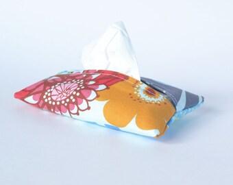 Fabric Tissue Holder, Travel Sized Tissue Cover, Summer Totem (1)