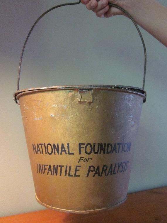 RESERVED for Monica Blair Vintage National Foundation for Infantile Paralysis Donation Bucket