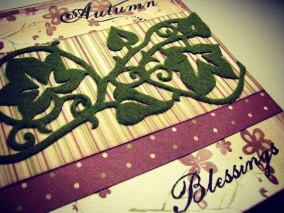 Premade Paper Bag Album Autumn Blessings