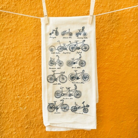 Dish Towel Sale: SALE Cycles Of Life Flour Sack Dish Towel By Kiteflyingsociety