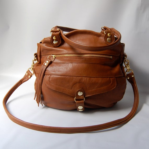SALE - 5 pocket Oaxaca bag in whiskey