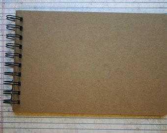 Long scalloped edge Chipboard Album 6 pgs wire bound 8.5 inches x 5.5 inches