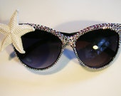 Mermaid Sparkles Cat Eye Sunglasses Accessory by Cutie Dynamite Sunnies Cute Kawaii Lolita Retro