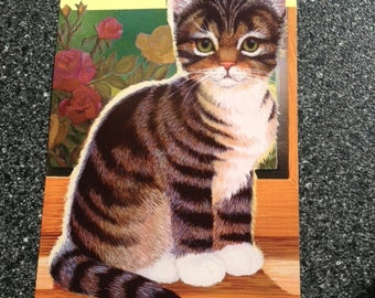 Socks The Cat- Beverly Cleary Story Postcard from 1989 Cat Postcard