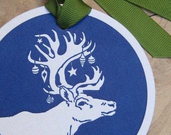 Caribou Ornamental Gift Tag