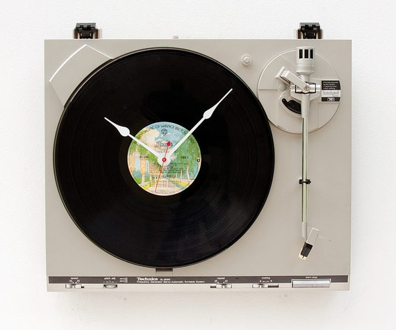 Recycled Technics Turntable Clock