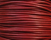 Round Leather Cord 2mm - Brick 2 yards