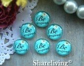 Glass Cabochon, 8mm 10mm 12mm 14mm 16mm 20mm 25mm 30mm Round Handmade photo glass Cabochons  (Be inspired) -- BCH175C