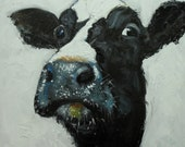 Print Cow 490 20x20 inch Print from oil painting by Roz