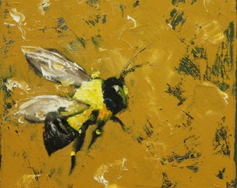 Print Bee 223 20x20 inch Print from oil painting by Roz