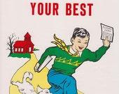 Vintage School Poster - Always Do Your Best - Good Manners Illustration - 1959