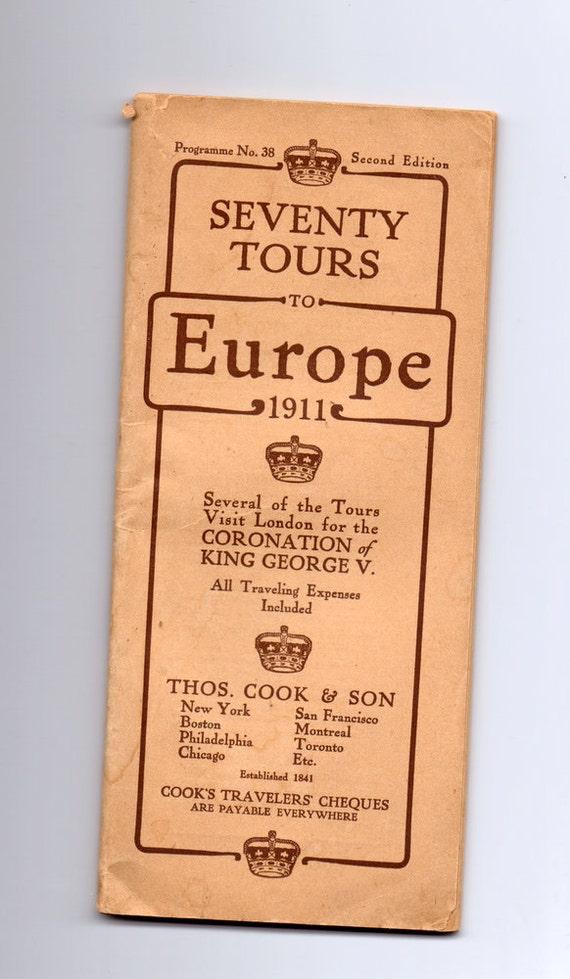 Antique Europe Tour Book 1911 Thos. Cook & Son