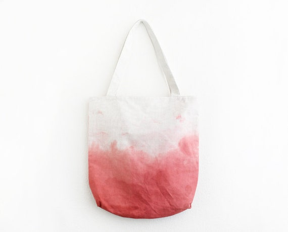 amaranth pink dyed canvas tote