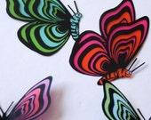 B174 - 12 x 3D Butterflies for scrapbooking, cards, weddings, decorations