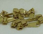 zipper pull 12  5 mm solid brass zipper pulls