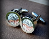 Cleveland Ohio - Vintage Map Cuff Links - Great Gift
