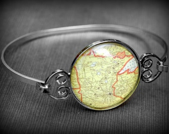 Minnesota Bracelet - Vintage Map