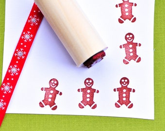 Jumbo Gingerbread Man Rubber Stamp