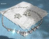 Vintage Signed Bogoff  Rhinestone Demi Parure Stunning Jewelry